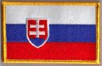 Slovakia Embroidered Flag Patch, style 08.